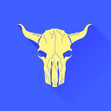 Skull of Bull Icon Stock Photography