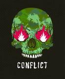 Skull with burning eyes Royalty Free Stock Photo