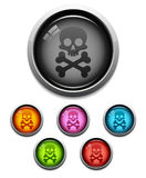 Skull button icon royalty free illustration