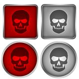Skull buttons Stock Photography