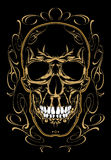 Skull and calligraphic design elements. Royalty Free Stock Photography