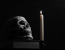 Skull and Candle Royalty Free Stock Images