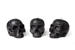 Skull candles Royalty Free Stock Photo