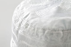 Skull caps are usually worn by Muslim men, sometimes as a simple cap and often as an under-cap to the Ghutrah Royalty Free Stock Images