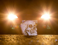 Skull and a car Royalty Free Stock Photos