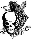 Skull and carp, Stock Photo