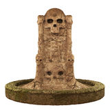 Skull cave crypt. 3D rendered dark skull  cave crypt on white background isolated Stock Images