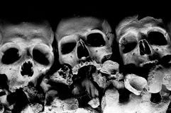 Skull of Cemetery in Naples - Italy Royalty Free Stock Images