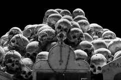 Skull of Cemetery in Naples - Italy Stock Images