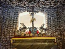 Skull chapel in Poland stock photo
