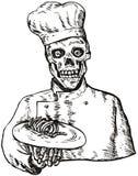 Skull Chef Royalty Free Stock Photography