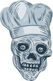 Skull Chef Cook Drawing Royalty Free Stock Photos