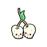 Skull cherries cartoon Royalty Free Stock Photo