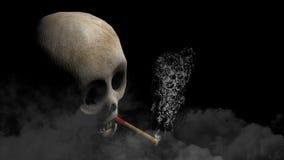 Skull and Cigar at smoke made of skulls Royalty Free Stock Image