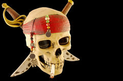 Skull with cigarette Royalty Free Stock Image