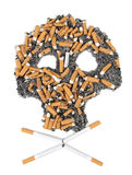 Skull of cigarette Royalty Free Stock Photos