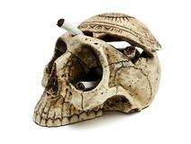 Skull and cigarettes Royalty Free Stock Image