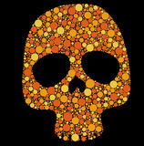 Skull with circles Royalty Free Stock Image