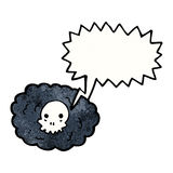 skull in cloud cartoon Royalty Free Stock Photos