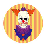 Skull clown. With a big smile Stock Images