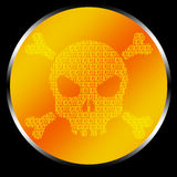 Skull Code. Skull realized by binary code. Good for hacking logos, or others graphic applications Royalty Free Stock Images