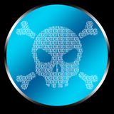 Skull Code. Skull realized by binary code. Good for hacking logos, or others graphic applications Royalty Free Stock Photography
