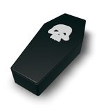 Skull coffin Royalty Free Stock Photography