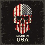 Skull color of the flag Stock Photos