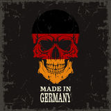 Skull color of the flag. The vector image Skull color of the flag Stock Photography