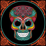 Skull With Colored Pattern Stock Photography