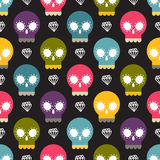 Skull colorful seamless pattern Royalty Free Stock Photos