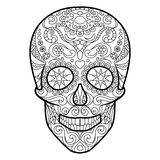Skull coloring book for adults vector Stock Image