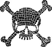 Skull in comic style Stock Photography