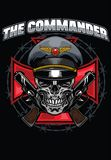 Skull commander design. Vector of skull commander design Royalty Free Stock Images