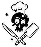 Skull, cooking, hat royalty free stock photography