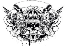 Skull corona roses Royalty Free Stock Photography