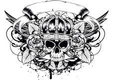 Skull corona roses Royalty Free Stock Photography