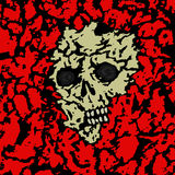 Skull covered with ground. Vector illustration. Royalty Free Stock Images