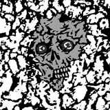 The skull is covered with priming. Vector illustration. Genre of horror. Scary vampire face. States of mind Stock Images