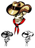 Skull cowboy color Royalty Free Stock Photography