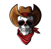 Skull Cowboy. Eps 10  illustration Design Stock Photo