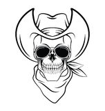 Skull cowboy Warrior vector illustration Stock Photos