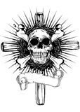 Skull cross Stock Photos