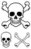 Skull with cross bone. Vector of simple skull with cross bone Stock Photos