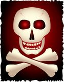 Skull and cross-bones. Skull and cross-bones on gradient background. Vector illustration Stock Images