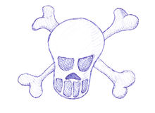 Skull and cross bones Royalty Free Stock Image