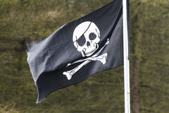 Skull and cross bones flag Stock Image