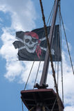 A skull and cross bones pirate flag Royalty Free Stock Photos