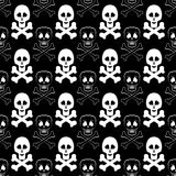 Skull Cross Bones Seamless Pattern Royalty Free Stock Photography
