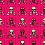Skull and cross bones seamless pattern. Original design for print or digital media Royalty Free Stock Photo